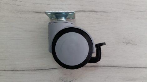HTC-561 Колелце с планка и стопер Ø50 , h-70 mm