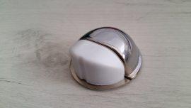 Стопер за врата самозалепващ , хром с бяла гума мод 402 (5987)